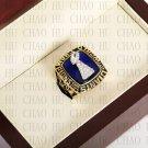 Team Logo wooden case 1986 New York Gaints Super Bowl Championship Ring 10-13 size solid back