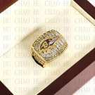 Team Logo wooden case 2000 Baltimore Ravens Super Bowl Championship Ring 10-13 size solid back