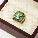 Team Logo wooden Case 1980 PHILADELPHIA EAGLES NFC Football world Championship Ring 10-13 size