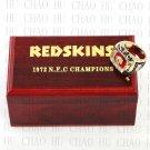 Team Logo wooden Case 1972 Washington Redskins NFC Football world Championship Ring 10-13 size