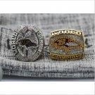 One Set 2 PCS 2000 2012 Baltimore Ravens NFL Super Bowl FOOTBALL Championship Ring 7-15 Size