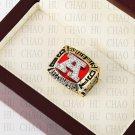 Team Logo wooden Case 1991 Buffalo Bills AFC Football world Championship Ring 10-13 size solid back