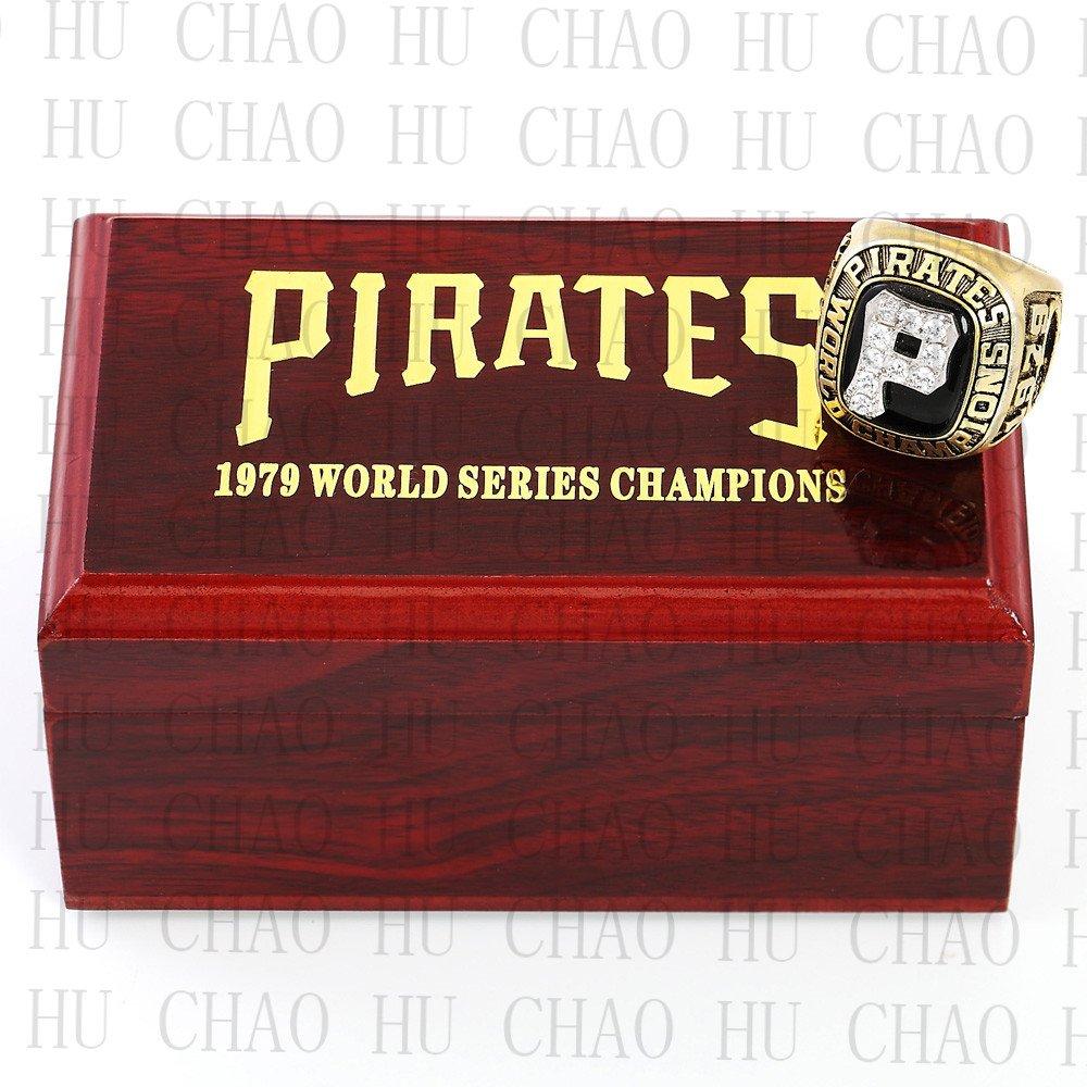 Team Logo wooden Case 1979 PITTSBURGH PIRATES world Series Championship Ring 10-13 size