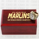 Team Logo wooden Case 1997 FLORIDA MARLINS world Series Championship Ring 10-13 size solid back