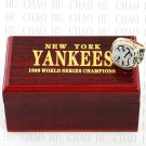 Team Logo wooden Case 1999 New York Yankees world Series Championship Ring 10-13 size solid back