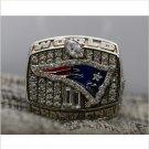2001 New England Patriots NFL Super Bowl FOOTBALL Championship Ring 7-15 Size Copper