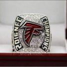 2017 Atlanta Falcons NFC FOOTBALL Championship ring 7-15 size Copper solid high quality one