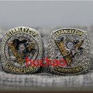 2 PCS 2016 and 2017 Pittsburgh Penguins Hockey Stanely Cup Championship Ring 7-15 Size