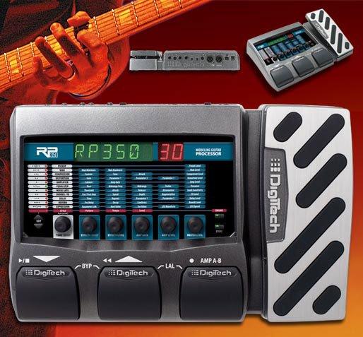 Digitech RP350 Guitar Model Processor w/ EXPPedal, Ch Switch, USB Power Supply