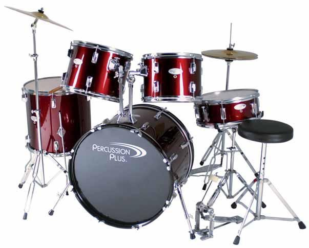 Percussion Plus PP3100 Complete 5-Piece Drum Kit  FREE SHIPPING www.tmscad.ecrater.com