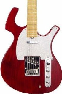 Parker P36 Trans Red Strat Electric w/ Parker Padded Gig Bag  FREE SHIPPING www.tmscad.ecrater.com