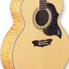 Washburn J28SDL Acoustic Natural w/Case FREE SHIP Quilted Maple Back/Sides www.tmscad.ecrater.com
