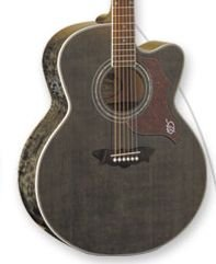 Washburn J28SCEDL Acoustic/Electric Trans Black w/Case FREE SHIP www.tmscad.ecrater.com