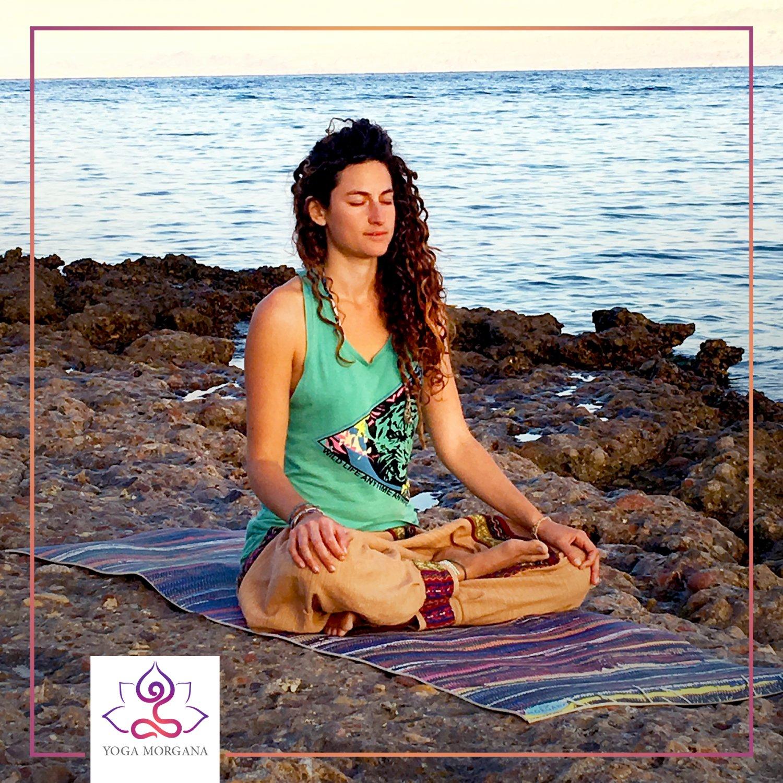 Cozy corner YogaMorganna Printed Mat Thick 5 mm 24 x 72 Pilates Home Decor Rug Exercise Meditation