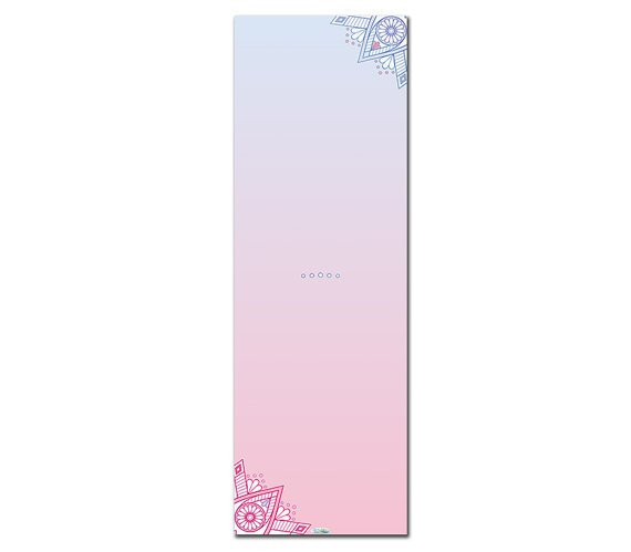 Sweet Passion Printed Yoga Mat Thick 5 mm 24 x 72 Pilates Decor Rug Gift Fitness Exercise Meditation