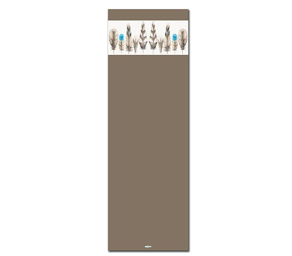 Diligence Brown Printed Yoga Mat Thick 5 mm 24 x 72 Pilates Rug Gift Fitness Exercise Meditation