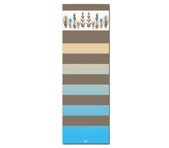 Diligence practitioner Printed Yoga Mat Thick 5 mm 24 x 72 Pilates Decor Brown Exercise Meditation