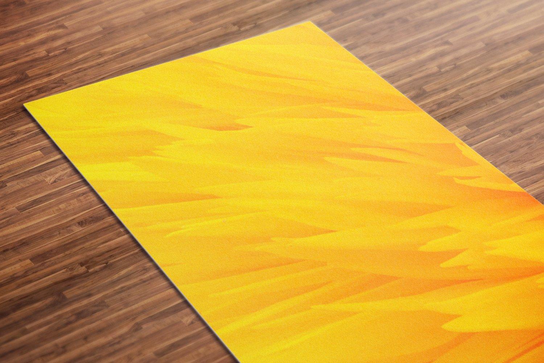 Sunflower Printed Yoga Mat Thick 5 mm 24 x 72 Pilates Yellow Decor Rug Gift Idea Exercise Meditation