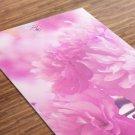 Pinkish Printed Yoga Mat Thick 5 mm 24 x 72 Pilates Pink Decor Rug Gift Fitness Exercise Meditation