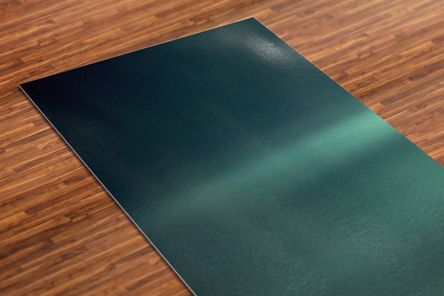 Green Printed Yoga Mat Thick 5 mm 24 x 72 Pilates Decor Rug Gift Fitness and Exercise Meditation