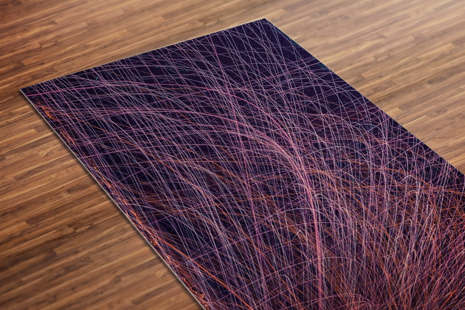 Sparks Printed Yoga Mat Thick 5 mm 24 x 72 Pilates Red Decor Rug Gift Fitness Exercise Meditation