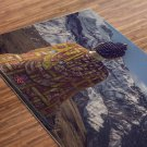 Buddha Printed Yoga Mat Thick 5 mm 24 x 72 Pilates Decor Rug Gift Fitness and Exercise Meditation