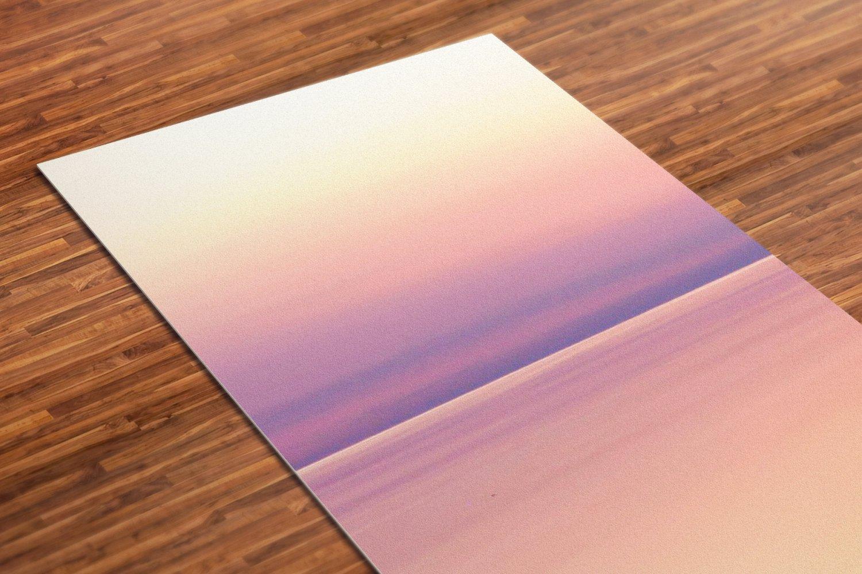 Sunset Printed Yoga Mat Thick 5 mm 24 x 72 Pilates Purple Decor Rug Gift Fitness Exercise Meditation