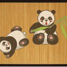 Kids bamboo natural mat healthy stand and play area panda for room great gift ideas housewarming