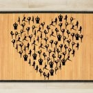 23.6X39.4 Love yoga bamboo natural rug housewarming  brown mat room and great gift