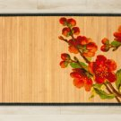 23.6X39.4 Flower bamboo natural rug housewarming  brown mat room and great gift idea carpet