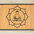 23.6X39.4 Buddha bamboo natural rug healthy standing brown mat for bedroom and great gift meditation