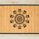 23.6X39.4 flowers bamboo natural rug housewarming  brown mat bedroom great gift idea meditation rose