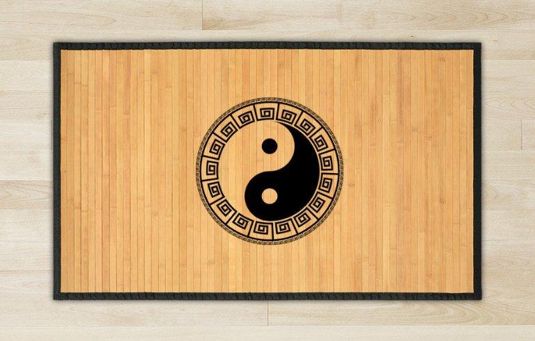 23.6X39.4 Yin Yen bamboo natural rug housewarming play  brown mat bedroom and great gift meditation