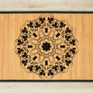 23.6X63 Mandala Yin bamboo natural rug housewarming  brown mat bedroom great gift idea meditation