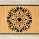 23.6X63 Mandala Yin bamboo natural rug housewarming  brown mat bedroom great gift idea meditation
