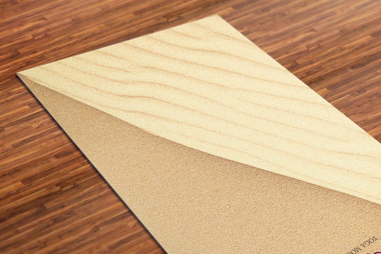 Dune Printed Yoga Mat Thick 5 mm 24 x 72 Pilates Begie Decor Rug Gift Fitness Exercise Meditation