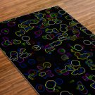 Glowing Printed Yoga Mat Thick 5 mm 24 x 72 Pilates Rug Meditation Black Bridesmaids Gift Bedside