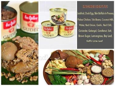 3 x Canned Gudeg Bu Tjitro Original Taste Unique Javanese Traditional Dish Foods
