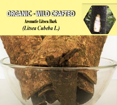 8 Oz/227g AROMATIC LITSEA BARK Litsea Cubeba Organic Dried Herbs Wild Crafted 100% Fresh