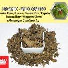 8 Oz / 227g Jamaica Cherry Leaves Kerson Capulin Panama Berry Muntingia Calabura Wild Crafted