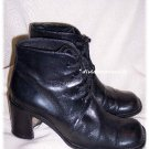 Joan & David Black Leather Boots Size 7