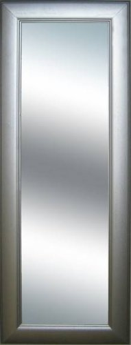 Grooved Frame Metallic Silver Extra Long Wall Mirror