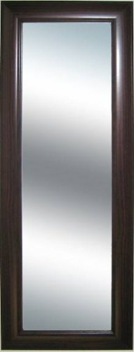 Grooved Frame Dark Mahogany Extra Long Wall Mirror