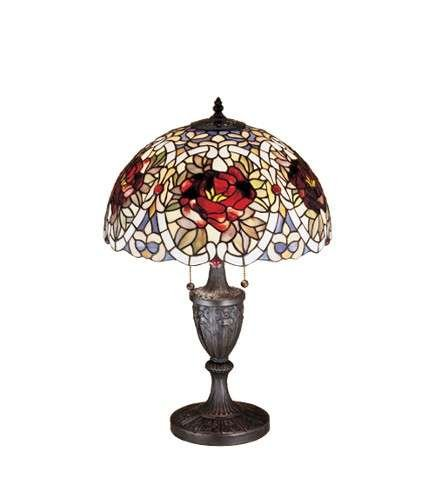 Meyda Tiffany Renaissance Rose Table Lamp