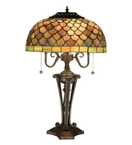 Meyda Tiffany Fishscale Table Lamp