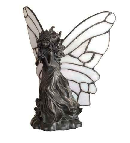 Meyda Tiffany Fairy with Ladybug Accent Lamp