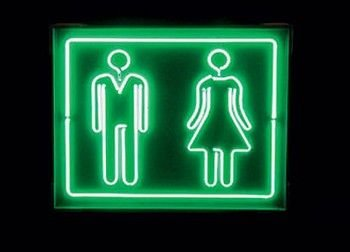 Restroom Neon Business Sign
