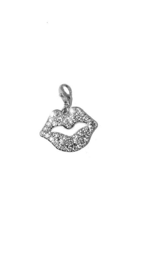Clip on Lip Charm for Bookbag, Bracelets, Etc.