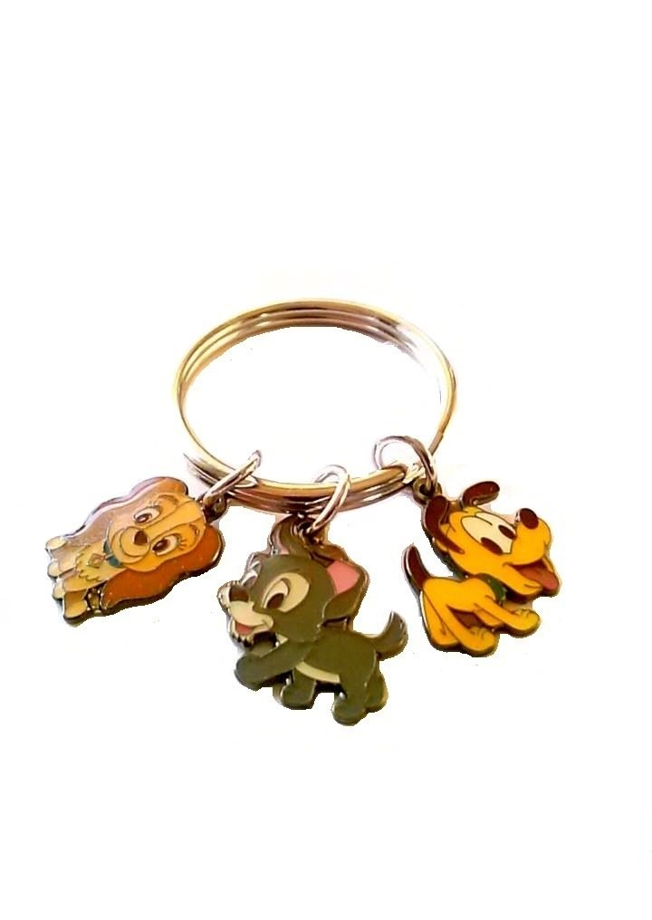 Disney Puppies Key Chain with 3 Charms