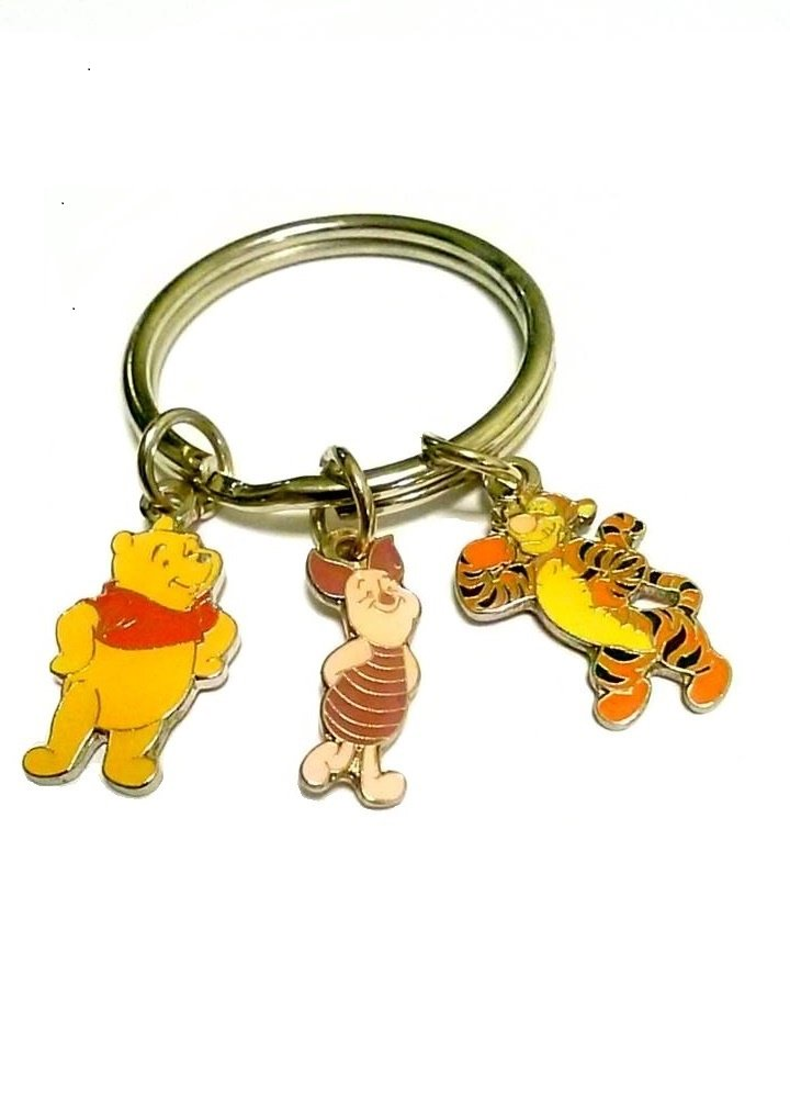 Disney Winnie the Pooh Key Chain with Friends Tigger and Piglet